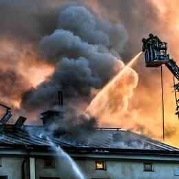 Brand på Konsthögskolan i Stockholm.