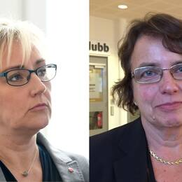 Helene Hellmark Knutsson (S) minister för högre utbildning, Kerstin Nilsson, dekan i fakulteten medicin och hälsa på Örebro Universitet