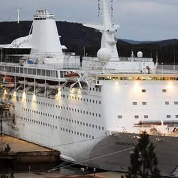 Fartyget Ocean Gala i novemberskymning.