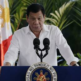 Filippinernas president Rodrigo Duterte.