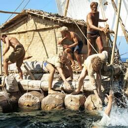 """Bild från norska """"Kon-Tiki"""" – en väldigt manlig produktion."""