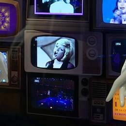 Tv-apparater med bidrag från olika år.