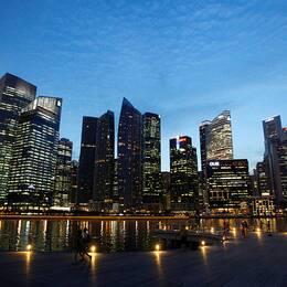 Marina Bay området i Singapore.