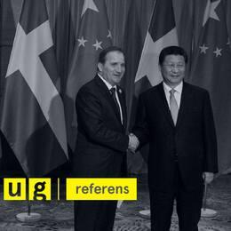 Stefan Löfven och Xi Jinping