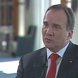 Stefan Löfven intervjuas för Agenda