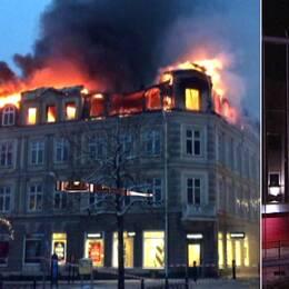 Arkivbild från branden, och Kamal Abdali