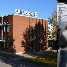 Ericssonfabrik i Kumla och ett tåg som går som på räls.