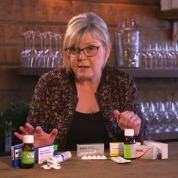 Gunilla Hasselgren om smärtstillande tabletter.