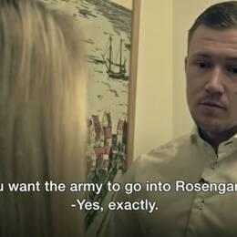 Pontus Andersson sa till brittiska BBC att det bör sättas in militär i Rosengård.