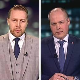 Mattias Karlsson (SD) och Morgan Johansson (S) möttes i debatt.