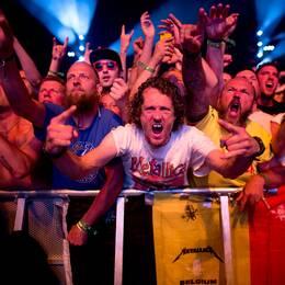 Metallica på scen i Göteborg 2015.