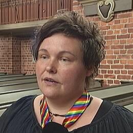 Carolina Bäck från den nybildade rfsl-föreningen i Eskilstuna.