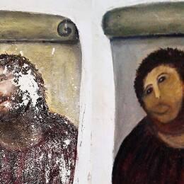 Den omgjorda väggmålningen har blivit en turistmagnet i den spanska staden Borja.