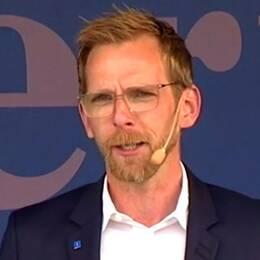 Jacob Forssmed (KD) talar på politikerveckan i Järva