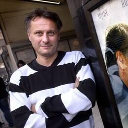 Michael Nyqvist spelade den kände dirigenten Daniel Daréus, som återvänder till sin norrländska hemby. Foto: TT