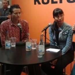 Liv Strömquist och Lidija Praizovic i samtal med Ingrid Elam på bokmässan