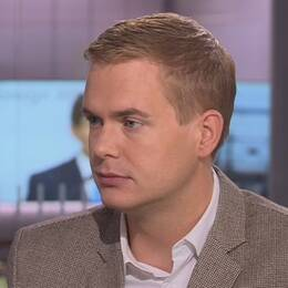 Gustav Fridolin (MP) i SVT:s Morgonstudion.