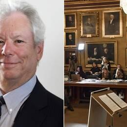 Den amerikanske ekonomen Richard H Thaler tilldelas årets ekonomipris till Alfred Nobels minne.