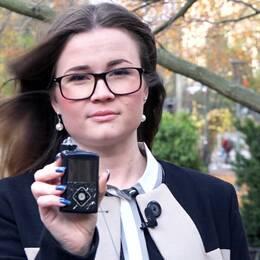 Sofia Larsson-Stern är typ 1-diabetiker och doserar sitt insulin genom en insulinpump.