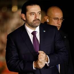 Saad al-Hariri besökte sin faders grav vid återkomsten till Beirut