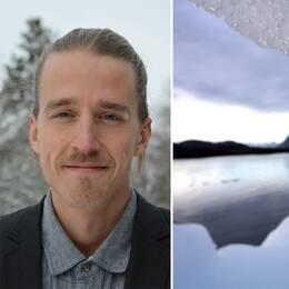 Till vänster Isak Stoddard. Till höger is som smälter.