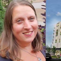 Susanne Filipsson är förtroendevald förhandlare på Hyresgästföreningen i Växjö. Hon tycker hyrorna på de nyproducerade ettorna borde halveras för att hamna på rätt nivå.
