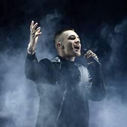 """Liamoo repeterar sitt bidrag Last Breath"""" vid fredagens repetition av Melodifestivalens andra deltävling i Scandinavium."""