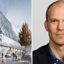 Växjös nya kommunhus och Erik Torvén kontorschef White arkitekter AB