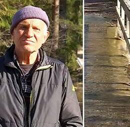 Vattnet fortsätter att stiga i sjön Öjen och i Stångån i sjöns östra ände.