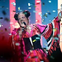 Vinnaren av Eurovision 2018, Netta från Israel.