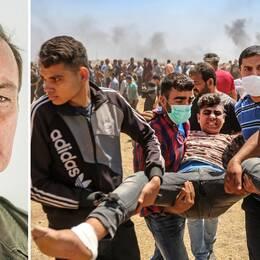 SVT Nyheter utrikesreporter Claes JB Löfgren ser tre orsaker som anledningen till den konfrontation som hittills krävt över 40 liv på gränsen mellan Gaza och Israel.
