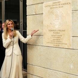 USA:s president Donald Trump var inte på plats i Jerusalem under invigningen av ambassaden, men hans dotter Ivanka Trump fanns där.