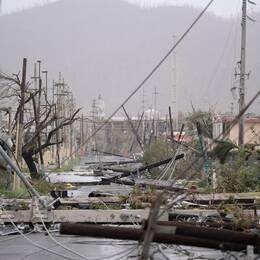 Orkanen Maria orsakade stor förödelse i Puerto Rico, och kan ha kostat över 4600 människor livet. Bilden är från den 20 september 2017.