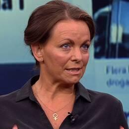 Författaren och debattören Katarina Wennstam debatterade mot Uppdrag gransknings ansvarige utgivare Ulf Johansson i torsdagens Aktuellt.