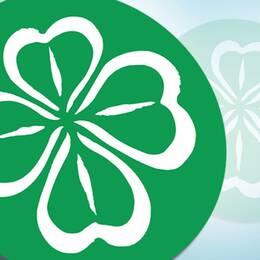 Centerpartiets symbol: en klöver.