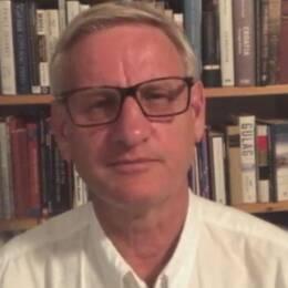 Utrikesminister Margot Wallström (S) och fd. statsminister Carl Bildt.