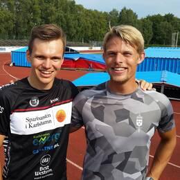 Simon Petersson och David Svensson, triathleter från Karlshamn.