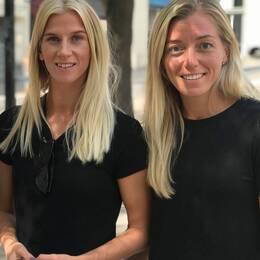 Montpellier-svenskorna Stina Blackstenius, Sofia Jakobsson och Linda Sembrant.