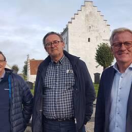 Jan-Eskil Göransson, Thomas Grundkvist och Christer Akej ingår i gruppen som kämpar för namnet Hannas byaväg.