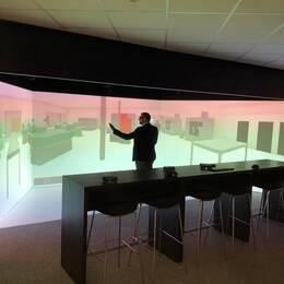 Martin Berggren är kvalitetschef för Halmstad kommun. Han är positivt inställd till den nya VR-studion, som ska göra det lättare att se fel och brister med ett byggnadsprojekt innan första spadtaget tas.