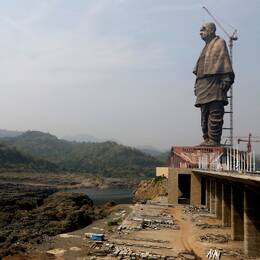 The Statue of Unity, föreställande indiska frihetskämpen Sardar Vallabhbhai Patel.