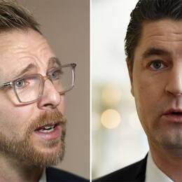 Jakob Forssmed (KD) och Oscar Sjöstedt (SD), ekonomisk-politiska talespersoner.