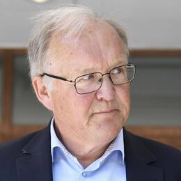 Göran Persson, före detta statsminister, intervjuas efter att han deltagit i en paneldebatt om skatter och utjämning i ABF-huset i Stockholm.