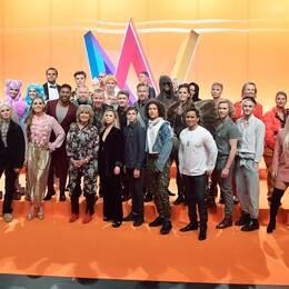 Artisterna som kommer att tävla i Melodifestivalen 2019.