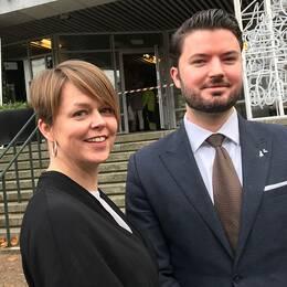 Katrin Stjernfeldt Jammeh (S) och Roko Kursar (L).