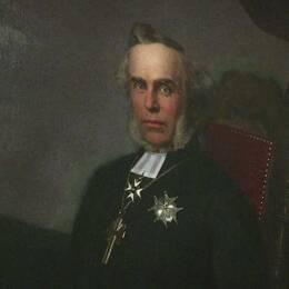 Ett av de första talmansporträtten var på talman Anton Niklas Sundberg, född 1818.