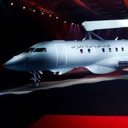 Saabs GlobalEye, ett flygplan som används för flygburen övervakning.