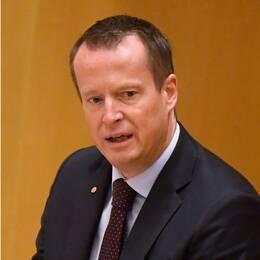 Anders Ygeman (t.h) tycker att det är logiskt att nästa gång pröva M-ledaren Ulf Kristersson som statsiminister