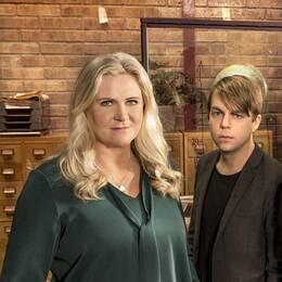 Från vänster: programledare Camilla Kvartoft, kriminolog Christoffer Carlsson, polis John Franco och advokat Johanna Bäckman.