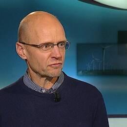 Fredrik Israelsson, reporter SVT Nyheter Västernorrland i studion
